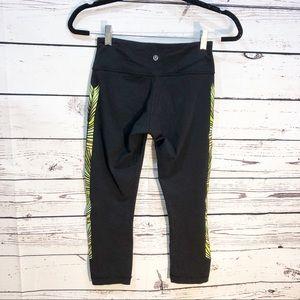 lululemon athletica Pants - Lululemon Wunder Under Crop Leggings: Green Leaf